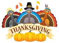 Thanksgiving turkeys thematic image 3