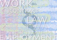 Illustration of important terms relating to work and law