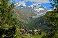 Hamlet Zmutt near Zermatt, Valais, Switzerland