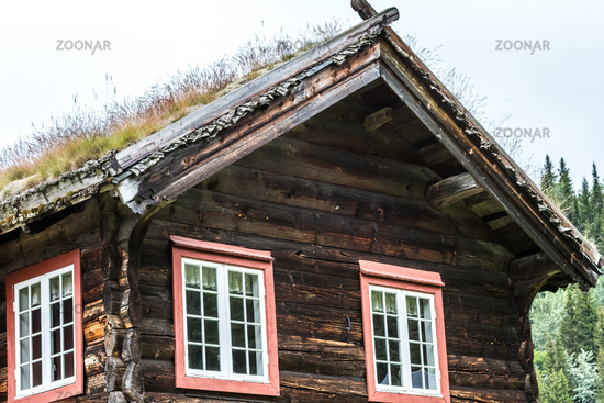 Old timber house in Norway