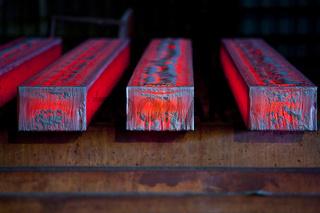 Heisser Stahl als Vorblock