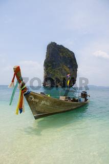 Longtailboat at Poda Island