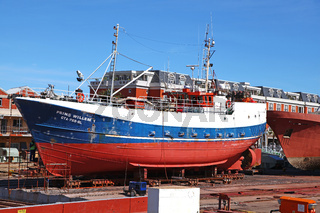 Trockendock im Hafen von Kapstadt, at the port of Cape Town, South Africa