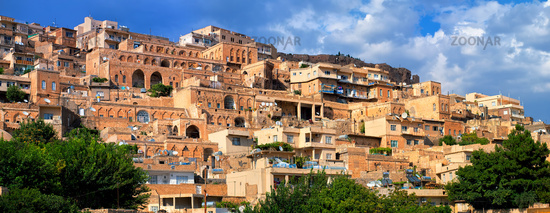 Panorama of the old town of Mardin, Turkey