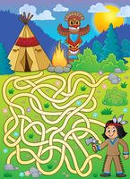 Maze 4 with Native American boy
