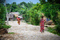 Tharu women in a small village in Nepal