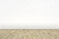 empty room with a wooden floor