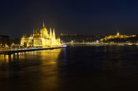 Cityscape of Budapest at night
