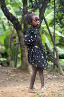 Girl belonging to the ethnic group of the Betsimisaraka, Ambavaniasy, Madagascar