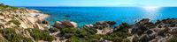 Summer Sithonia rocky coast, Greece.