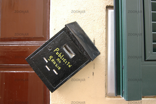 funny letter boxes. Funny letter box on a house
