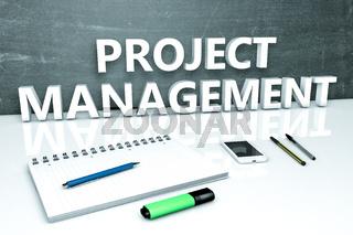 Project Management text concept