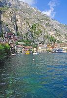 Village of Limone sul Garda at Lake Garda,Lombardy,Italy
