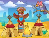 Native American campsite theme image 2