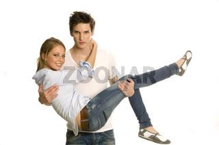Mann und Frau in Aktion