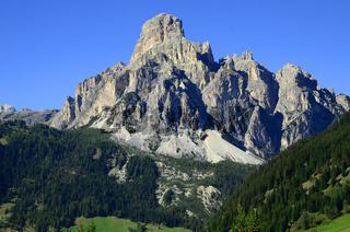 Sassongher in den Dolomiten, Suedtirol, Italien