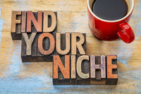 Find your niche word abstract
