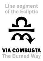 Astrology: sign of VIA COMBUSTA (The Burned Way)
