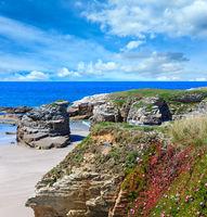 Atlantic sandy Illas beach (Spain).