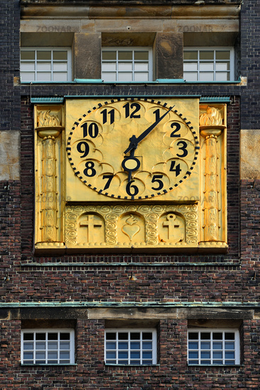 clock of the wedding tower in Darmstadt