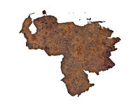Karte von Venezuela auf rostigem Metall - Map of Venezuela on rusty metal