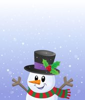 Lurking snowman in snowy weather theme 2