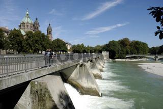 Wehrsteg an der Isar, München