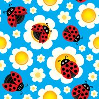 Spring theme seamless background 3