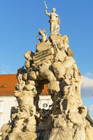 Historical statue  in  Brno close up