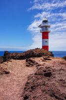 Der Leuchtturm Faro de Teno auf Teneriffa