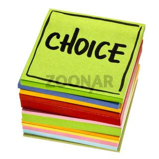 choice word on reminder note