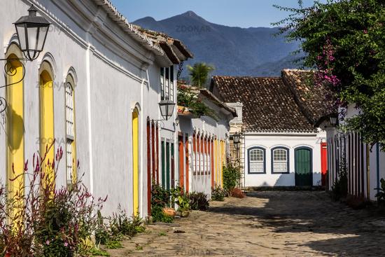 Street in Paraty in Brazil