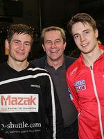 handball player Allan Damgaard ( Frisch Auf Göppingen) and Michael Damgaard (SC Magdeburg)