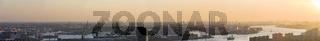 Panorama Nieuwe Maas Industrial Rotterdam