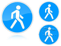 Set of variants a Footpath - road sign