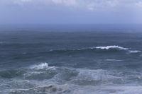 Unwetter über dem Atlantische Ozean, Nazare, Portugal, Europa