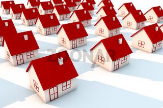 3d illustration house model on white