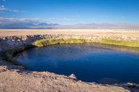 Ojos del salar landmark in San Pedro de Atacama, Chile