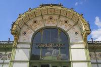 Vienna - Stadtbahn pavilion on Karlsplatz