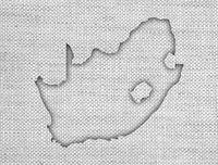 Karte von Südafrika auf altem Leinen - Map of South Africa on old linen