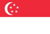 Fahne von Singapur - Colored flag of Singapore