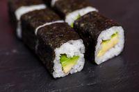 Maguro sushi with tuna