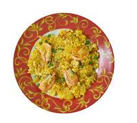 Egyptian seafood rice