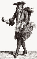 Travelling poison seller, about 1690