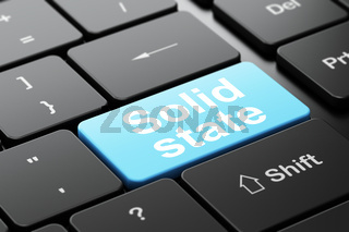 Science concept: Solid State on computer keyboard background