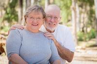 Happy Senior Couple Portrait Outdoors