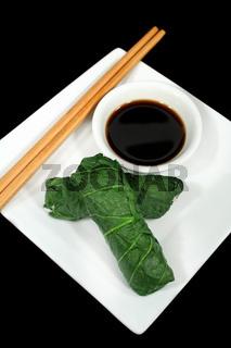 Asian Bok Choy Rolls