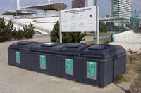 Plastic black  containers for garbage