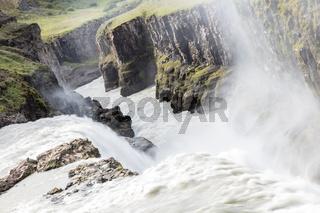Gullfoss waterfall - Iceland - Detail