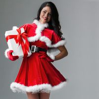 Woman with christmas gift